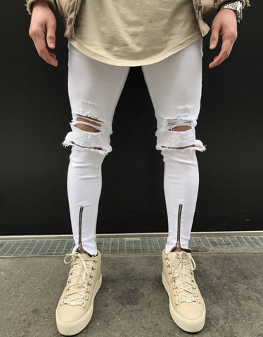 Distressed Knee Jeans - INKOSI-APPAREL