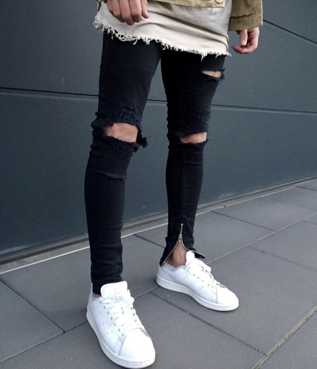 Wide Ripped Jeans - INKOSI-APPAREL
