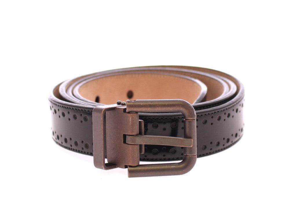 Black Leather Logo Belt - EnModaLife.Com