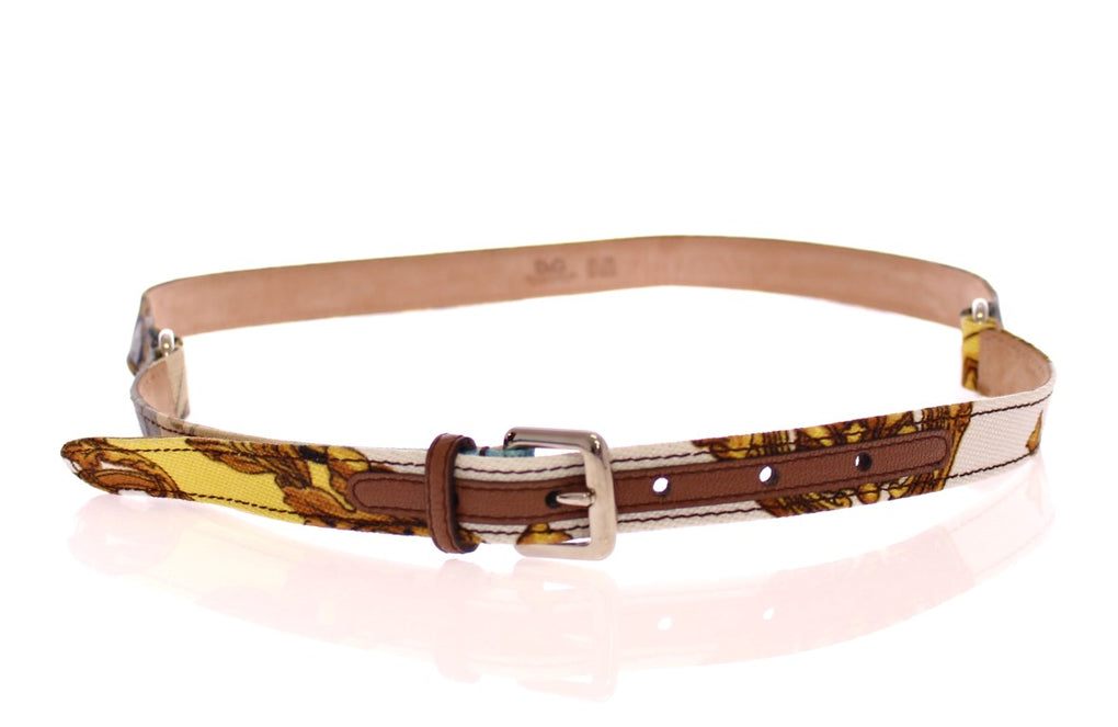 Multicolor Leather Printed Belt - EnModaLife.Com