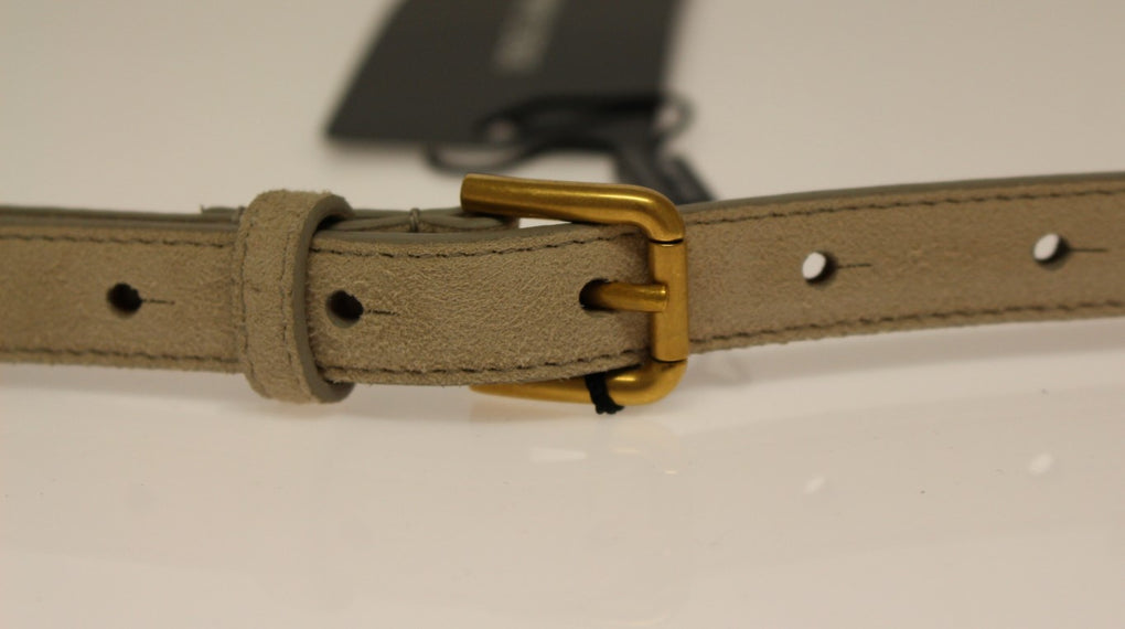 Beige Leather Suede Belt - EnModaLife.Com