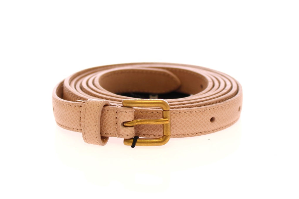 Pink Leather Skinny Belt - EnModaLife.Com