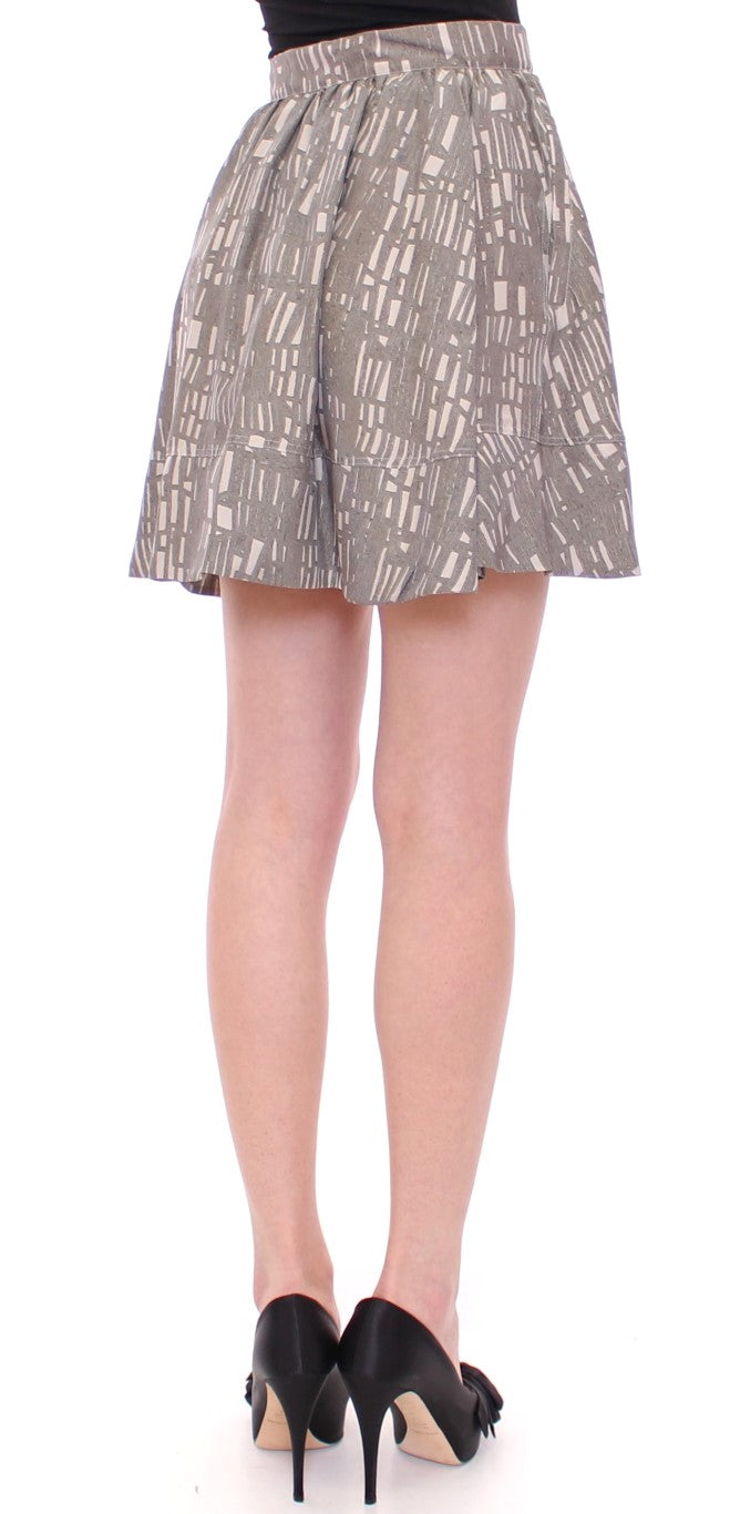 Gray Mini Short A-Line Skirt - EnModaLife.Com