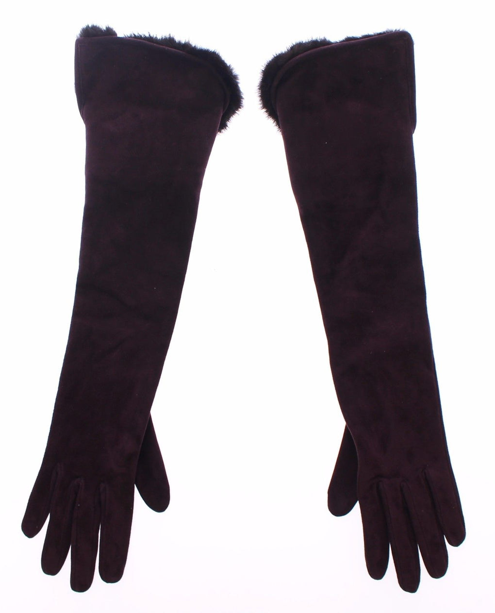 Purple Mink Fur Goatskin Suede Leather Gloves - EnModaLife.Com