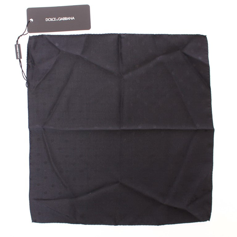 Black Silk Handkerchief - EnModaLife.Com
