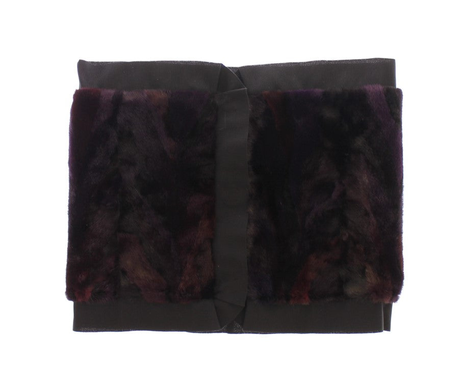 Purple MINK Fur Scarf Foulard Neck Wrap - EnModaLife.Com