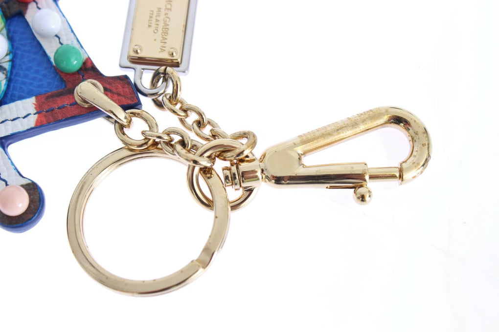 Multicolor Leather Cart Wheel Gold Keychain - EnModaLife.Com