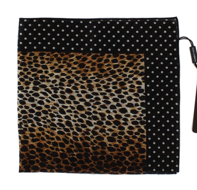 Brown Leopard Print Cotton Scarf - EnModaLife.Com