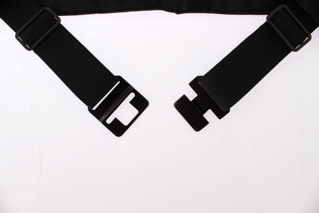 Black Wide Belt Silk Cummerbund - EnModaLife.Com
