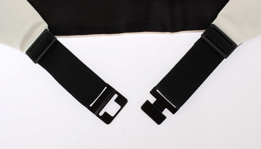 White Wide Belt Silk Cummerbund - EnModaLife.Com