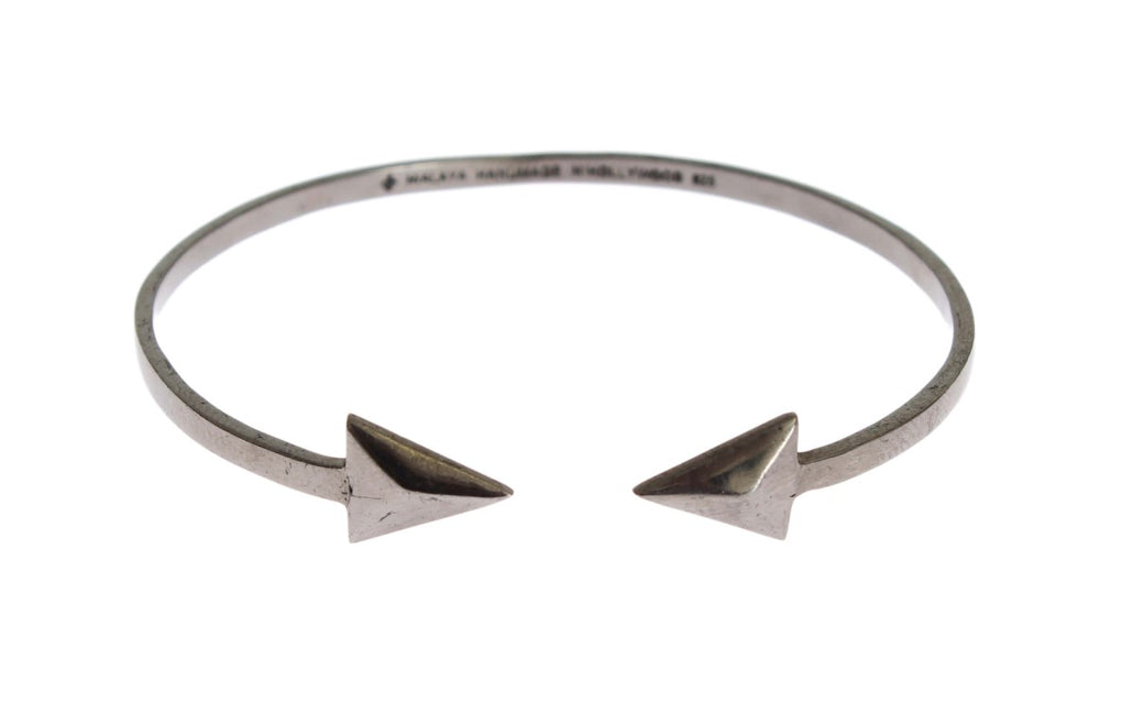 Arrow Gray 925 Silver Bangle Bracelet - EnModaLife.Com