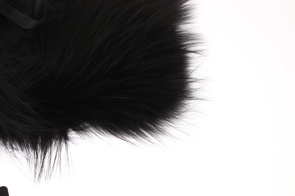 Black Fox Fur Collar Scarf - EnModaLife.Com