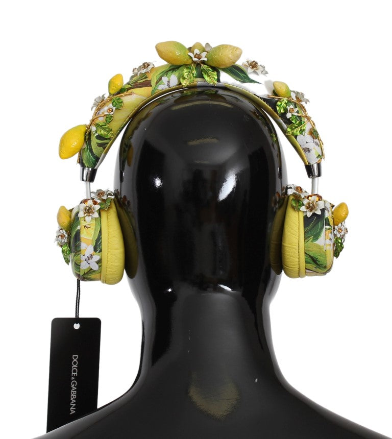 Lemon Crystal Wireless Leather Headphones - EnModaLife.Com