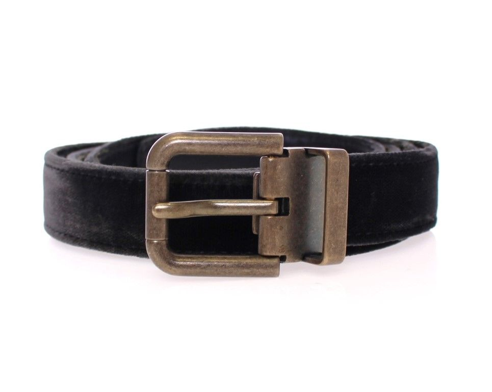 Black Viscose Logo Belt - EnModaLife.Com