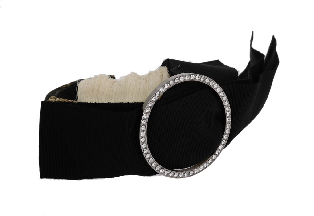 Black Crystal White Diadem Headband - EnModaLife.Com