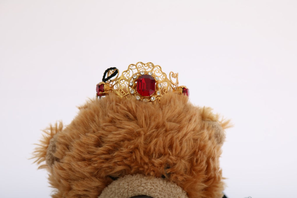 Brown Teddy Bear Gold Crystal Diadem - EnModaLife.Com