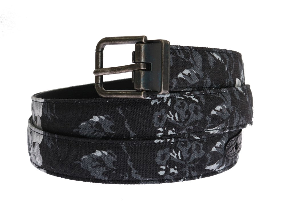 Black Cayman Linen Leather Belt - EnModaLife.Com