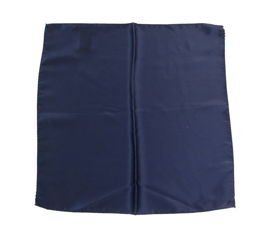 Blue Square Silk Handkerchief - EnModaLife.Com