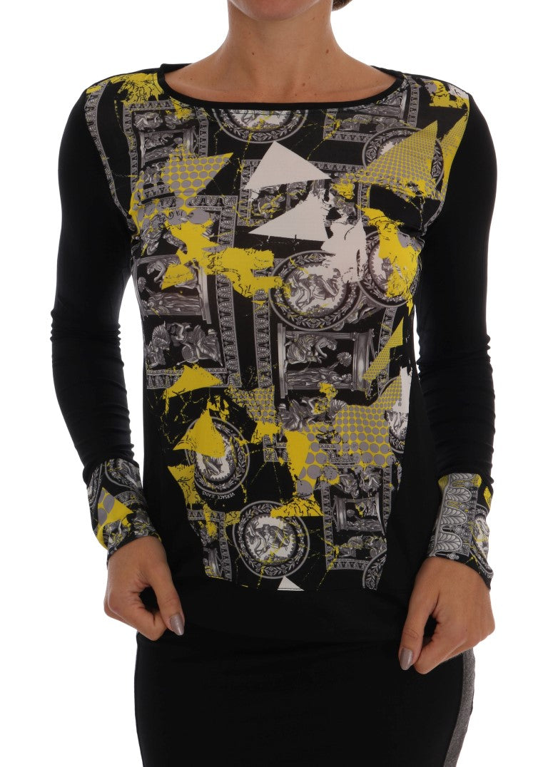 Black Baroque Stretch Pullover Sweater - EnModaLife.Com