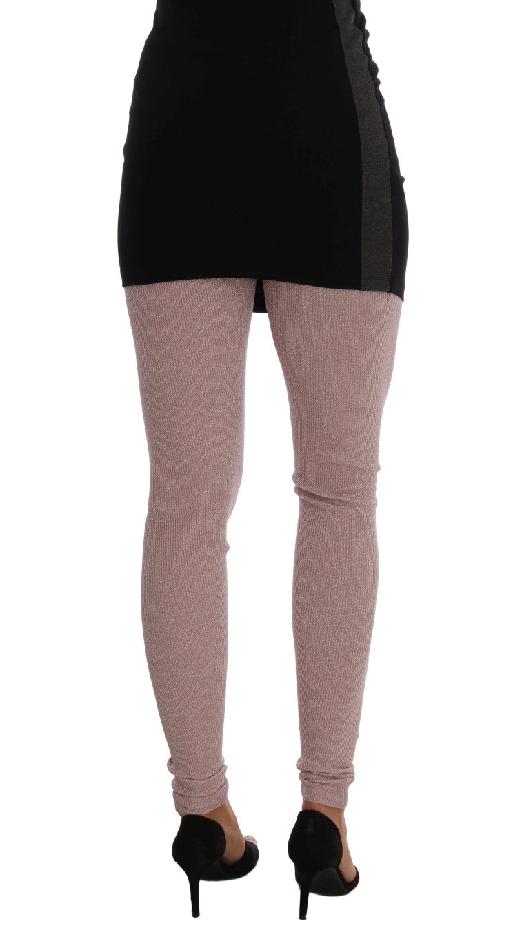 Pink Stretch Waist Tights Stockings - EnModaLife.Com