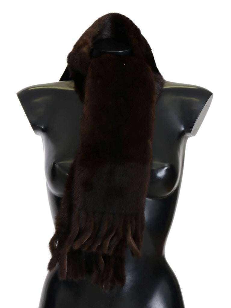 Brown Mink Fur Scarf - EnModaLife.Com