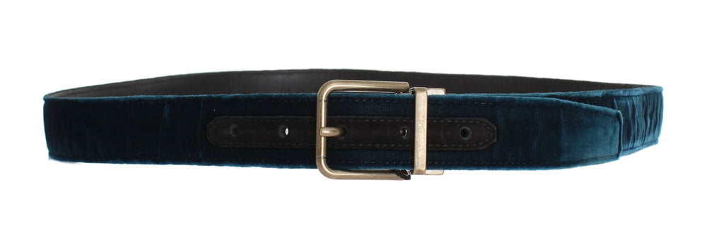 Blue Green Viscose Leather Belt - EnModaLife.Com