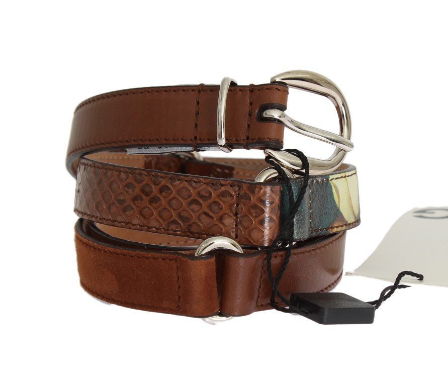 Brown Leather Pattern Belt - EnModaLife.Com