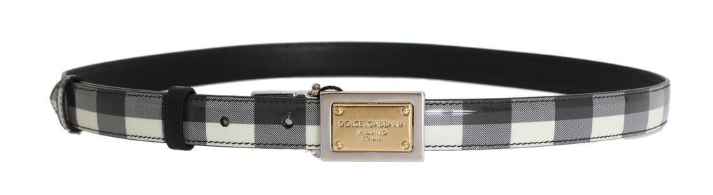 Gray Leather Pattern Belt - EnModaLife.Com