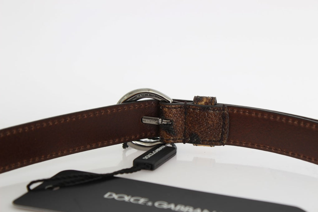 Brown Leopard Silver Buckle Belt - EnModaLife.Com