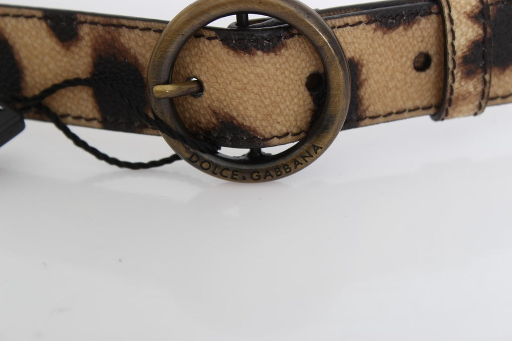 Brown Leopard Gold Buckle Belt - EnModaLife.Com