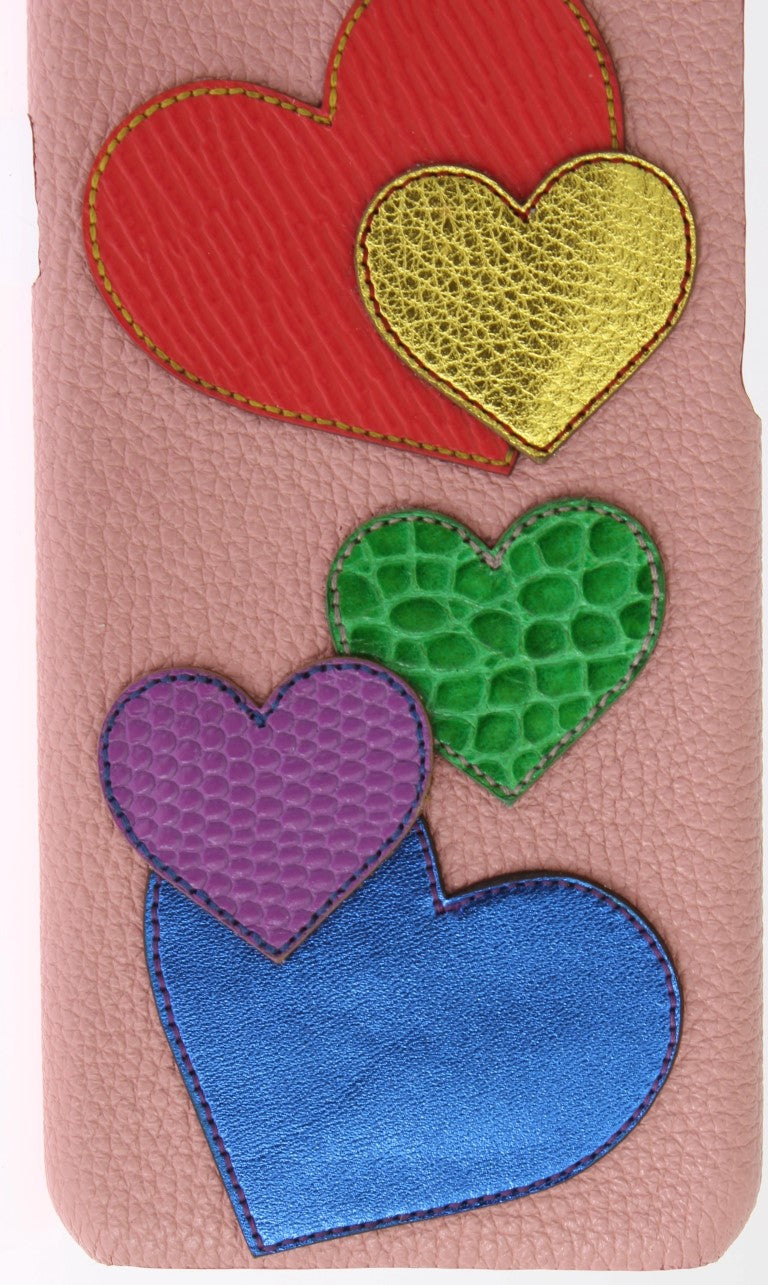 Pink Leather Heart Phone Cover - EnModaLife.Com