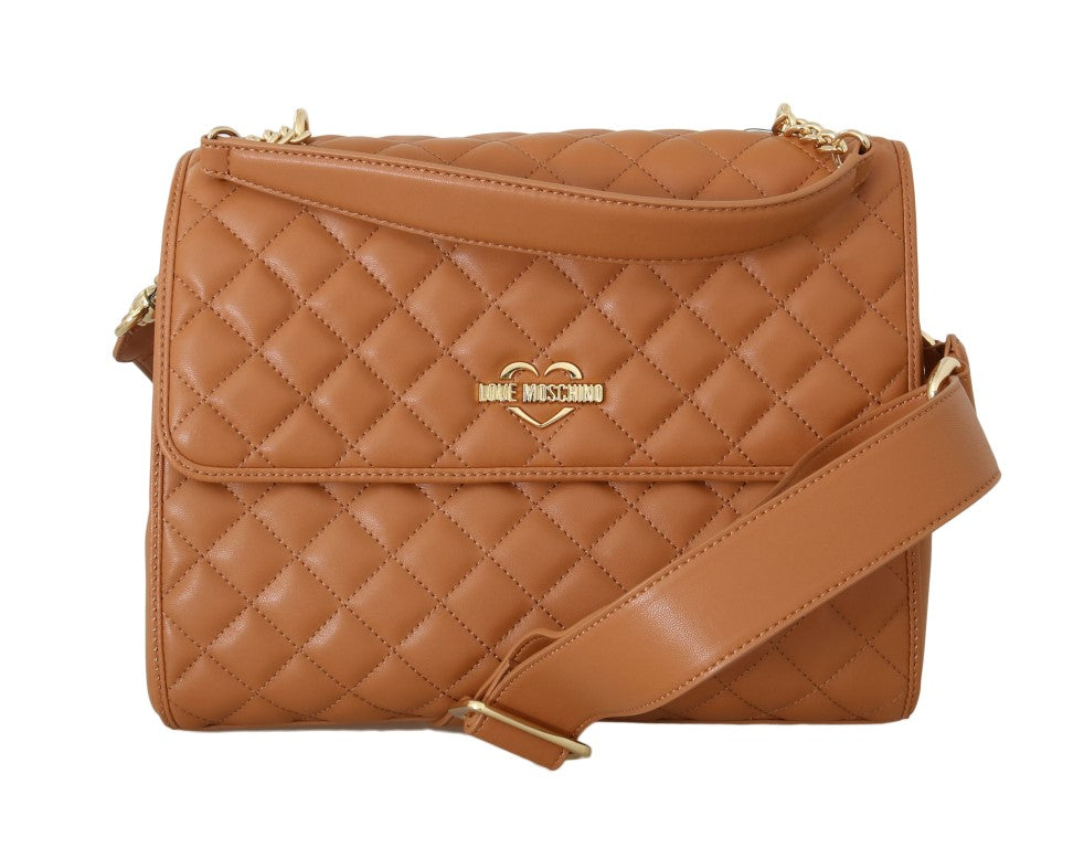 Beige Quilted Faux Leather Bag - EnModaLife.Com