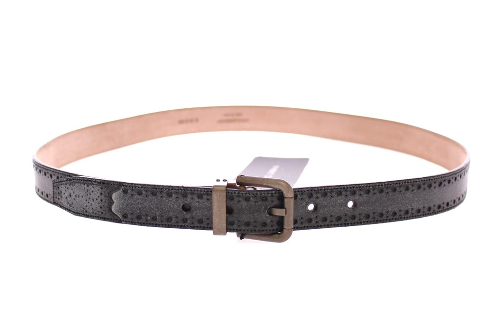 Blue Leather Logo Belt - EnModaLife.Com