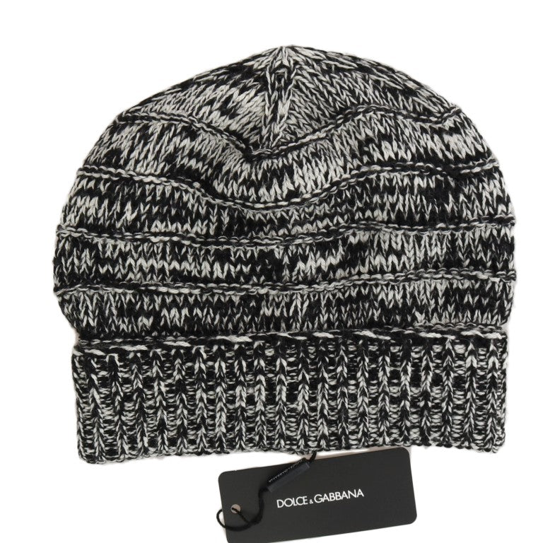 Gray White Wool Winter Beanie - EnModaLife.Com