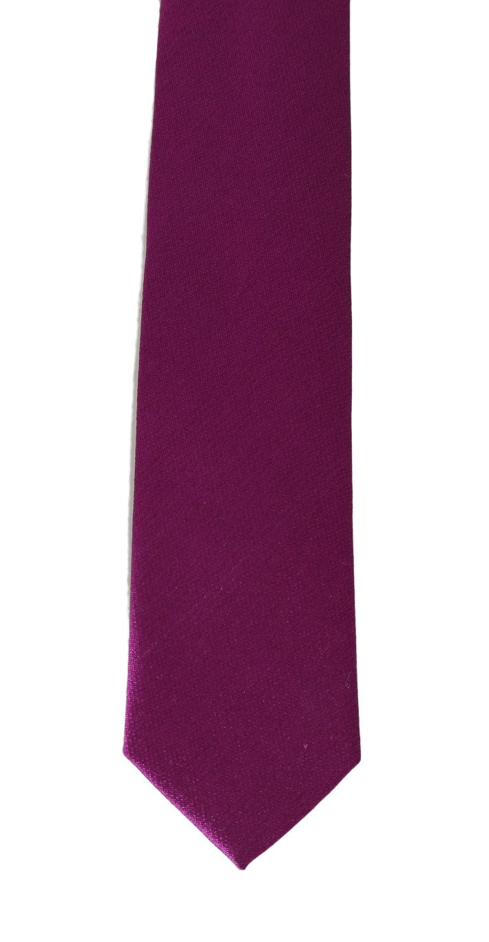 Purple Silk Solid Slim Tie - EnModaLife.Com