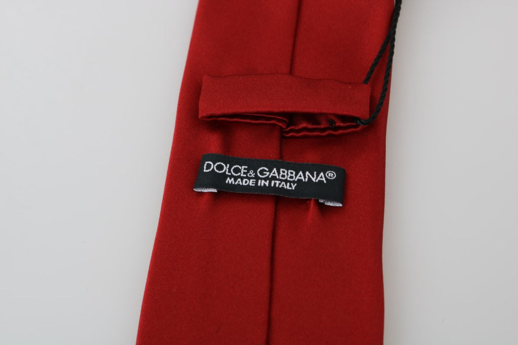 Red Silk Solid Classic Tie - EnModaLife.Com