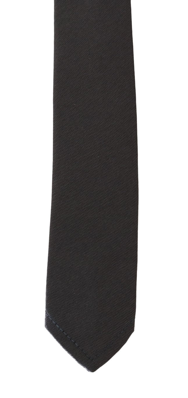 Brown Silk Solid Skinny Tie - EnModaLife.Com