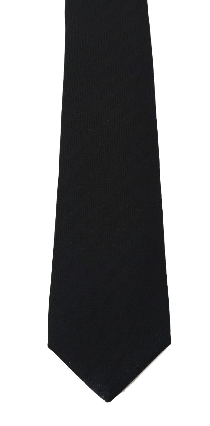 Gray Silk Patterned Tie - EnModaLife.Com