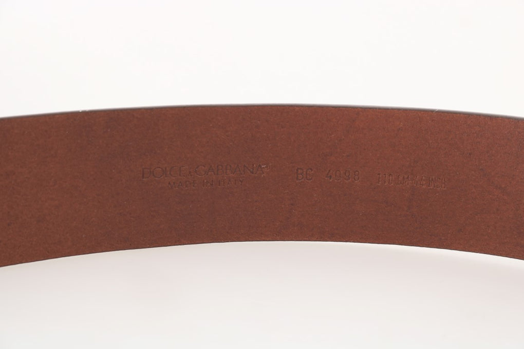 Brown Leather Sicilian Western Wide Belt - EnModaLife.Com
