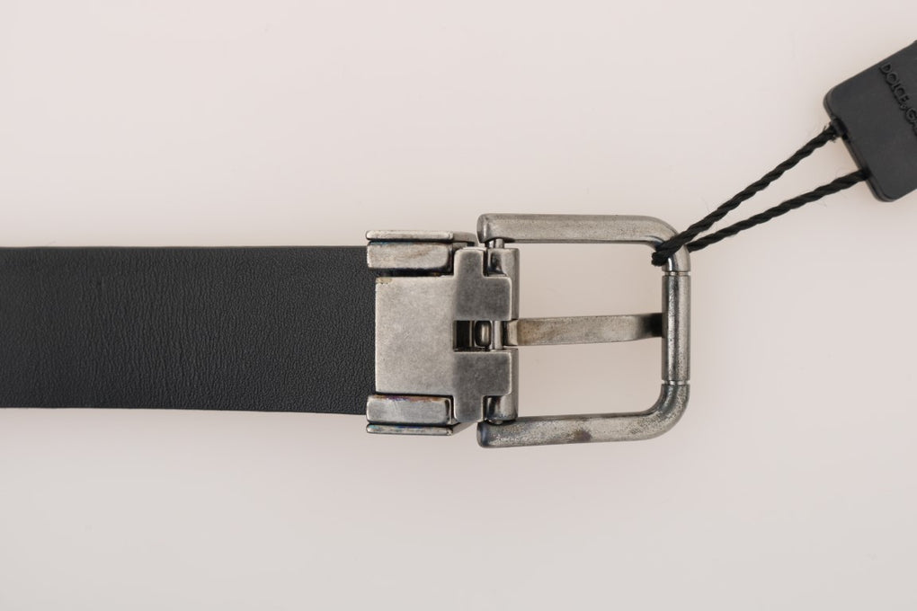 Gray Leopard Pattern Hair Calfskin Belt - EnModaLife.Com