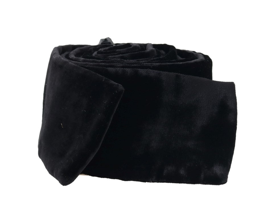 Black Velvet Wide Runway Catwalk Waist Belt - EnModaLife.Com