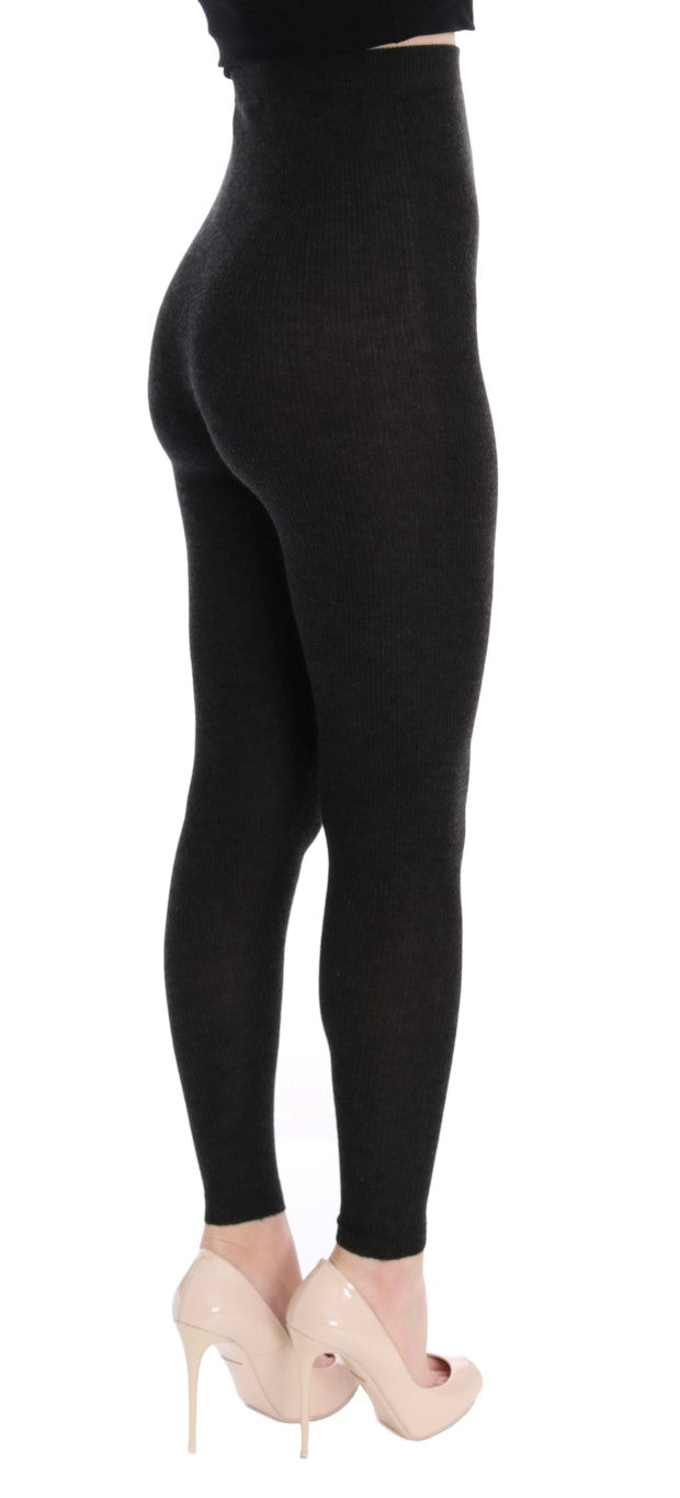 Gray Cashmere Stretch Tights - EnModaLife.Com