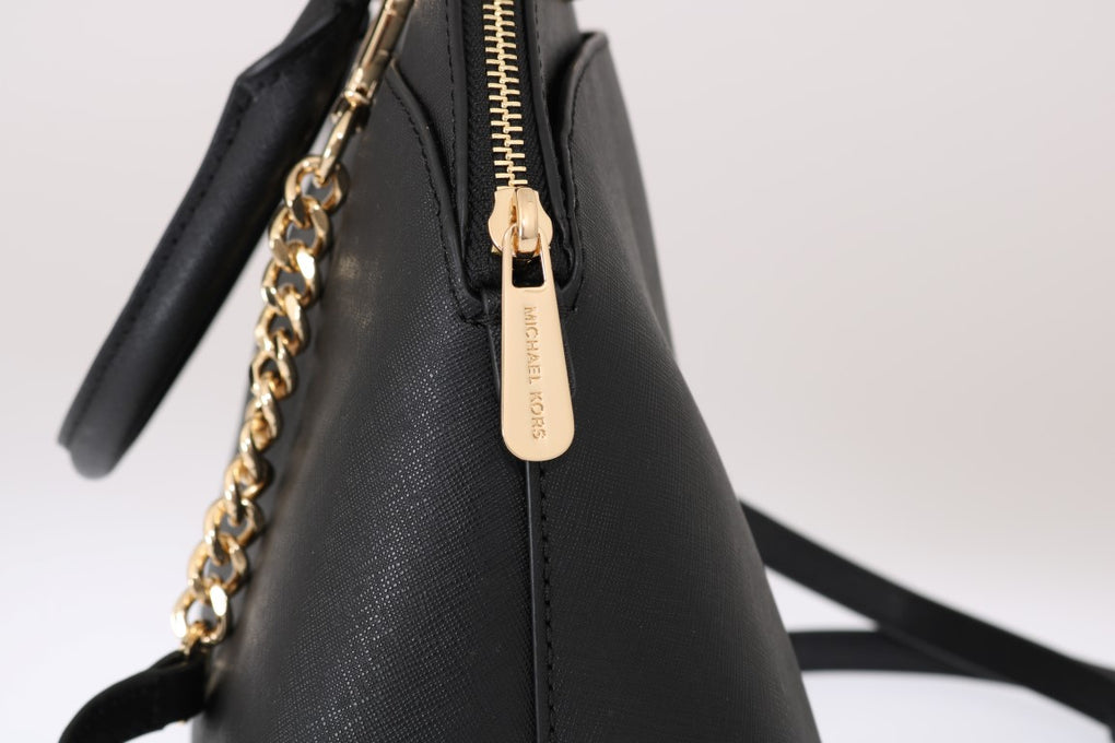 Black EMMY Leather Satchel Bag - EnModaLife.Com