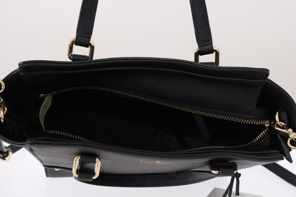 Black SMALL HANDLEE Leather Handbag - EnModaLife.Com