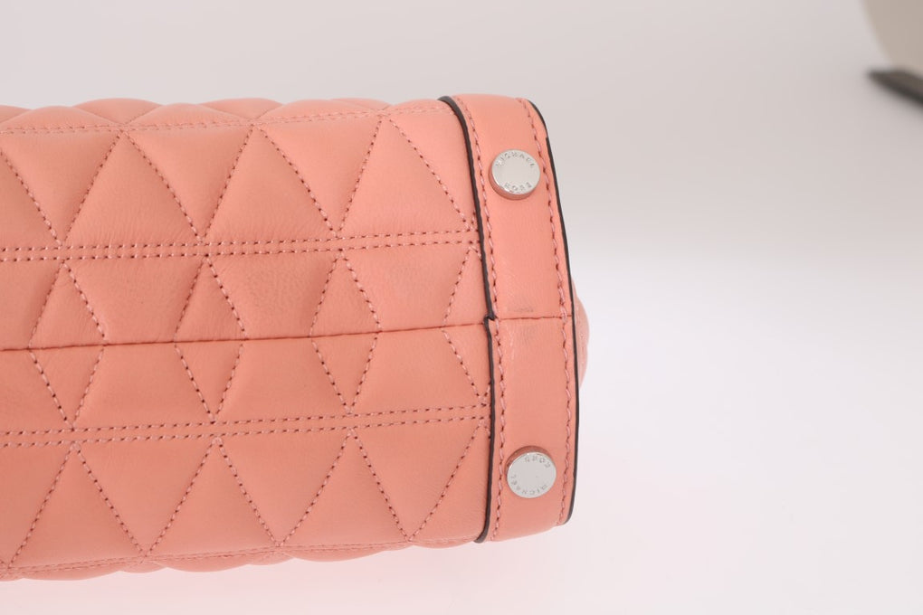 Pink VIVIANNE Leather Messenger Bag - EnModaLife.Com