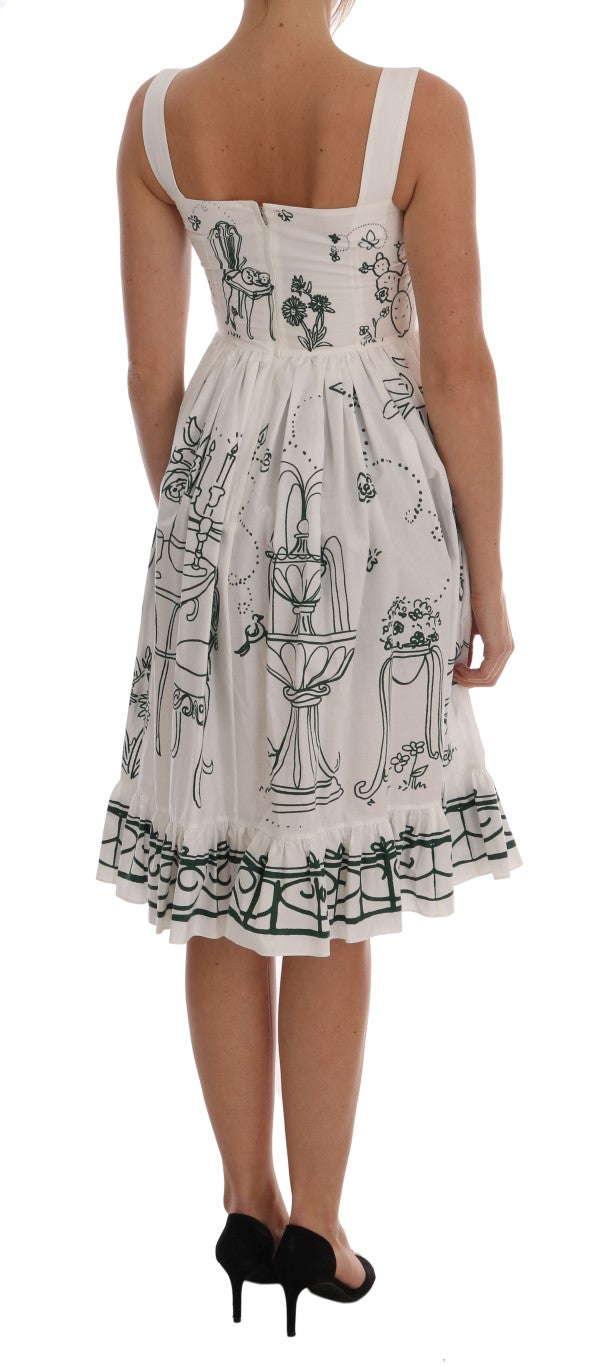 White Unique Garden Front Dress - EnModaLife.Com