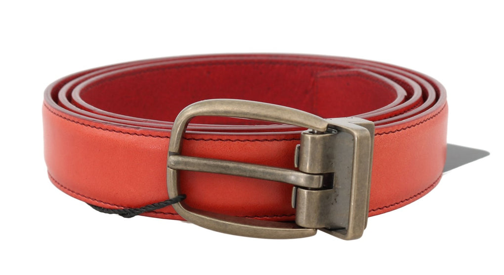 Red Leather Gold Buckle Belt - EnModaLife.Com