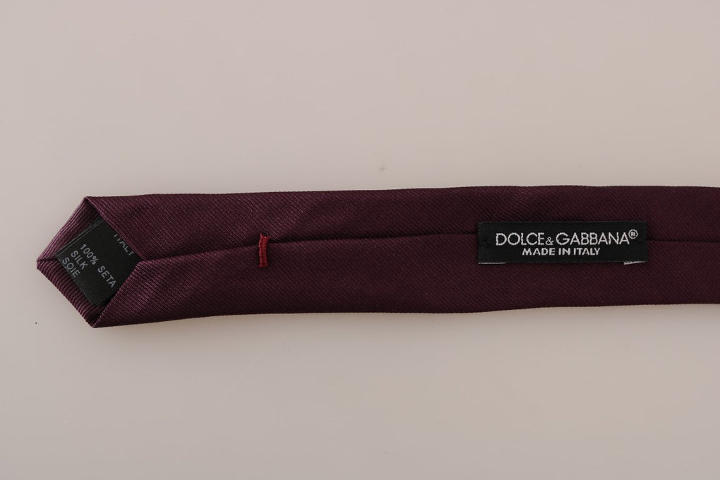Purple Silk Fashion Slim Tie - EnModaLife.Com