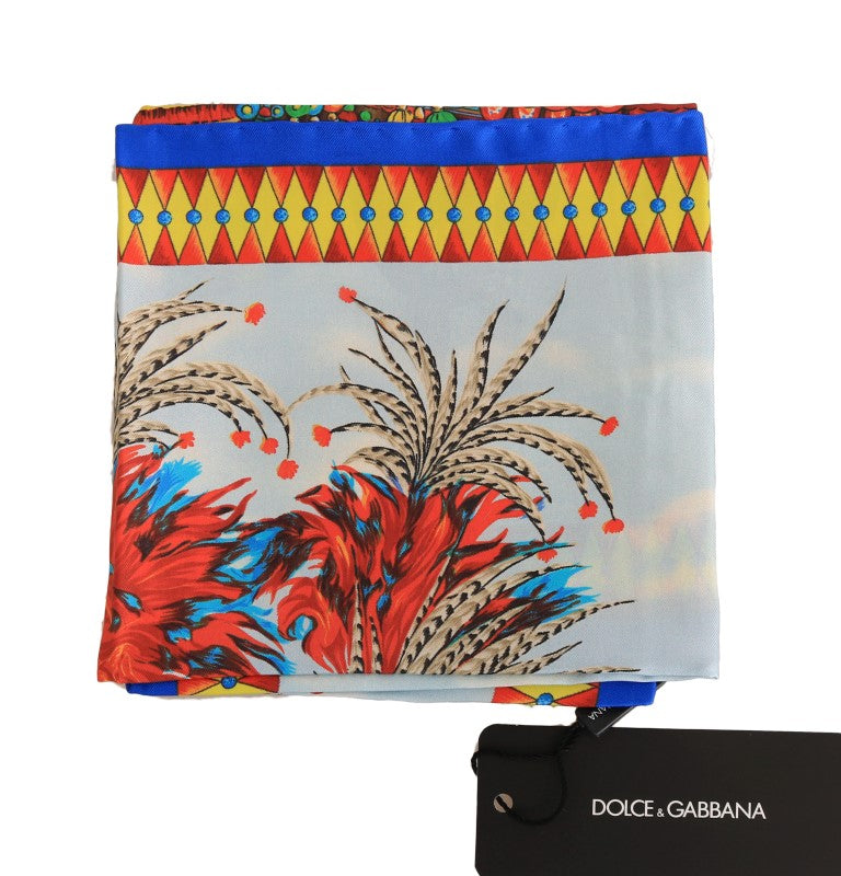 Multicolor Carretto Silk Scarf - EnModaLife.Com