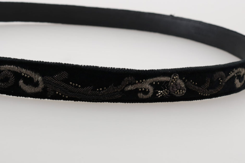 Black Cotton Royal Bee Embroidery Belt - EnModaLife.Com